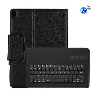 Detachable Bluetooth Keyboard + Litchi Texture Horizontal Flip Leather Case with Holder for iPad Pro 12.9 inch (2018) (Black)
