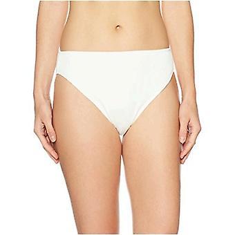 Brand - Mae Women's Swimwear Ribbed Bikini Bottom (for A-C cups),Cream,Small