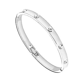 Eternity Ladies Silver Plated Crystal Oval Bangle