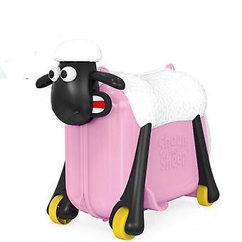 Carino cartone animato rotolamento bagagli spinner valigia, carrello di pecora