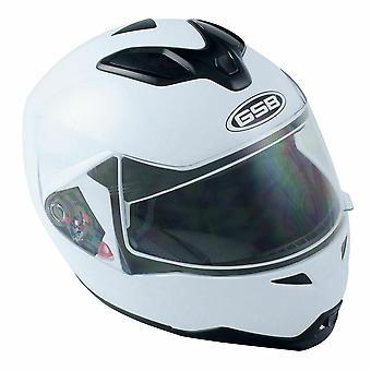 GSB G-339 Modular Flip Up Motorcycle Helmet BlackIntegrated Sun Visor