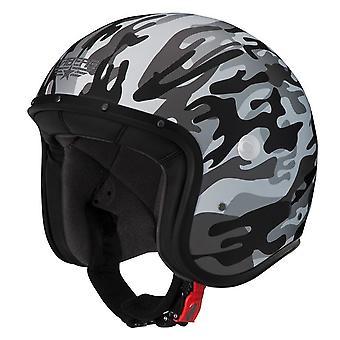 Caberg Freeride Commander Scooter Helmet Matt Grey Camo ACU Approved