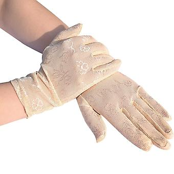 Mesh pustende utendørs uv-bevis ridning skjerm sommer solbeskyttelse hansker