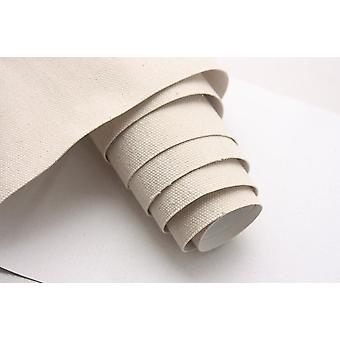 Wide Quality Blank Linen Blend Canvas Roll With Fine-medium Texture