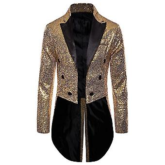 Jacket Blazer Men Swallow-tailed Coat Stage Magician Wedding