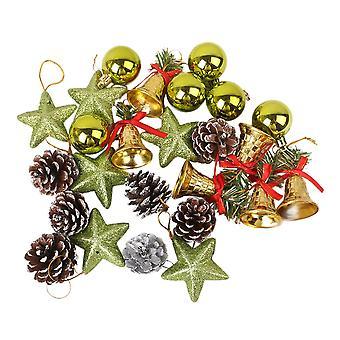 41pcs Green Christmas Tree Ball Ornament Hanging Set for Xmas Tree Holiday Party