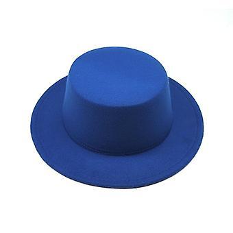 Fedoras feutre classique, casquette jazz artificial wool blend et large bord simple