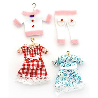 Bonecas House Little Girls Clothes On Hangers Shop Nursery Accessory