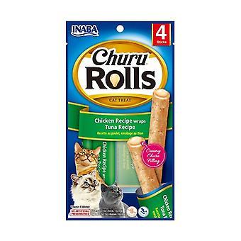 Churu Rolls for Cats Tuna Recipe 4 sticks