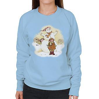 ホリーホビークリスマススノーマンレディース&アポ;sスウェットシャツ