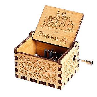 Hot Antik Trä Hand Crank Music Box