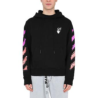 Off-white Ombb034r21fle0031032 Mænd's Sort Bomuld Sweatshirt