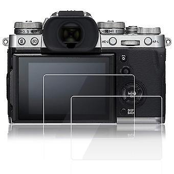 Afunta schermo protettori compatibile fujifilm x-t3 fotocamera, 2 pezzi vetro temperato antigraffio 9h hardn