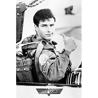 Top Gun Thumbs Up Tom Cruise-Poster-Plakat-Druck