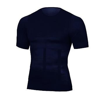 Mænd Body Toning T-shirt til slankende Body Shaper, Korrigerende Kropsholdning Belly