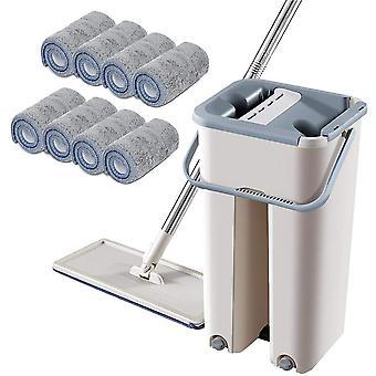 Floor Mop Set Automatické vedro Vyhnite sa ručnému umývaniu handričky na čistenie mikrovlákna