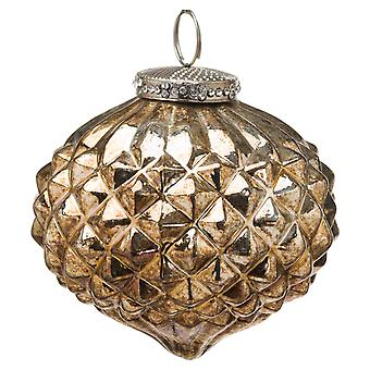 The Noel Collection Textured Glass Burnished Christmas Bauble