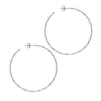 The Hoop Station La SARDEGNA Silver 58mm Hoop Earrings H129S