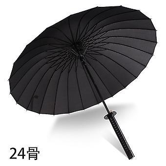 Samurai Sateenvarjo Vahva Tuulenpitävä Puoliautomaattinen Pitkä Sateenvarjo