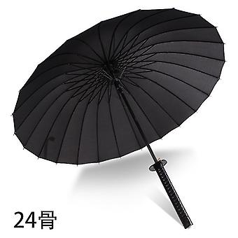 Samurai Umbrella Strong Windproof Semi Automatic Long Umbrella
