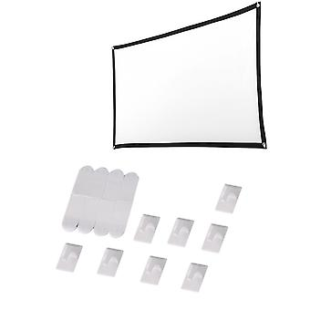 150 inch 16:9 Film Curtain Projector Curtain Folding Polyester Soft Curtain for Home Camping Film