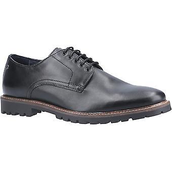 Base Hogan Waxy Mens Leather Formal Shoes Black UK Size