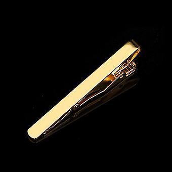 מעודן צבעוני עניבה קליפ מתכת שחור זהב טון פשוט בר אבזם מעשי