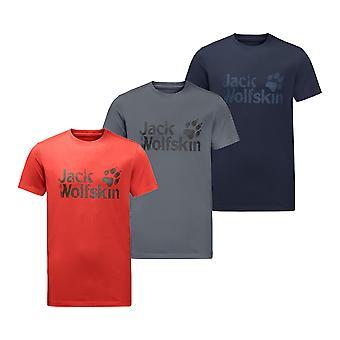 Jack Wolfskin Menns Merke T-skjorte