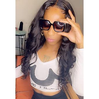 Body Wave 4x4 Lace Closure Human Hair Perruques Brazilian Remy Cheveux