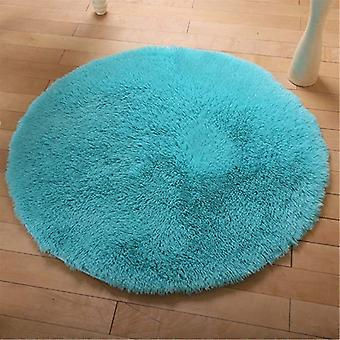 40cm Round Anti Skid Fluffy Shaggy Area Rug Dining Room Home Table Carpet Floor Mat