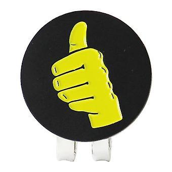 Marcador de bola de golfe com clipe de chapéu magnético
