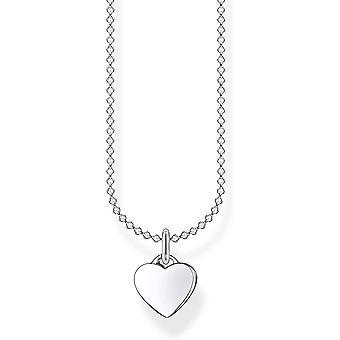 Wokex Damen Halskette Herz silber 925 Sterlingsilber, 38-45 cm Lnge