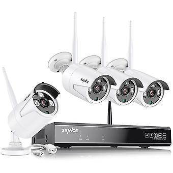 Wokex 3MP WLAN berwachungskamera Set mit mit Audioaufnehmen, 5MP 8CH NVR,4PCS 3MP berwachungskamera