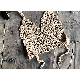 Children Bikini Top, Hollow Out Halter V-neck Lace Tops / Crochet Bra