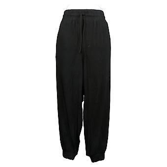 Anybody Women's Petite Pants Cozy Knit Jogger Pants Black A286476