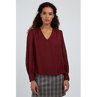 Louche Elvin Blouse Burgundy