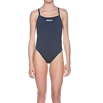 Arena Solid Lightec High Swimsuit Womens Open Back Athletic Swimming Costume
