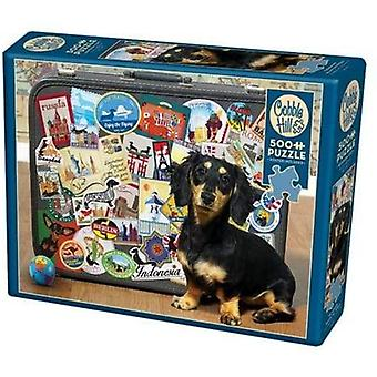 Cobble hill puzzle - dachshund 'round the world - 500 pc