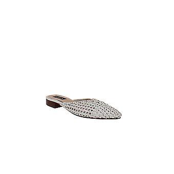 Aqua | Leana vävda läder mulor