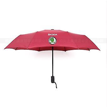 Fully-automatic Umbrella Skoda Logo Umbrella(Red)
