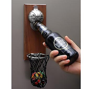 Beer Opener Magnet Basketball Shot Bottle Opener With Pocket Wall Mounted Home Decor Can Wine Kitchen Gadget Bar Party Supplies