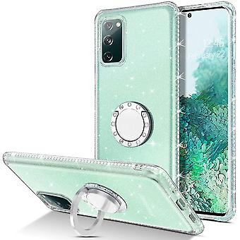 FengChun Samsung Galaxy S20 FE 4G/5G Hülle Glitzer Transparent Anti Gelb Handyhülle mit 360 Grad