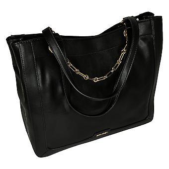 Nine West Shoulder Bag Faux Leather Black A447348