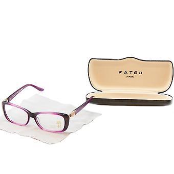 Katsu Bril Frame K8023 C2 Violet Plastic Japan Handgemaakt 54-15-135