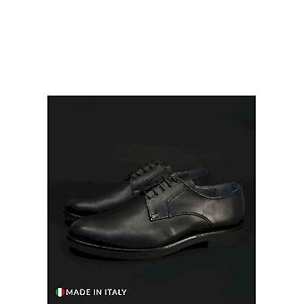 Duca di Morrone - Shoes - Lace-up shoes - 604-PELLE-NERO - Men -- Schwartz - EU 40