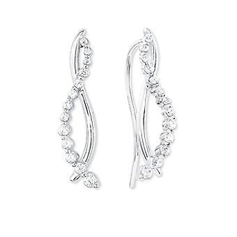 Liebe Silber Damen Stoff Ohrringe - 2023892