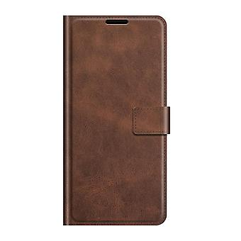 Pu leather magsafe case for samsung a82 5g dark brown pc150