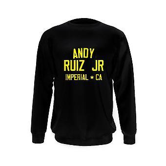 Andy ruiz jr bokslegende kinderen sweatshirt