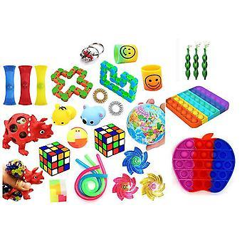 Favor 29st Fidget Set Pack för barn Pop it Stress ball