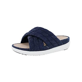 Fitflop Mujer Loosh Luxe Cross Slide Denim Sandalia Zapatos